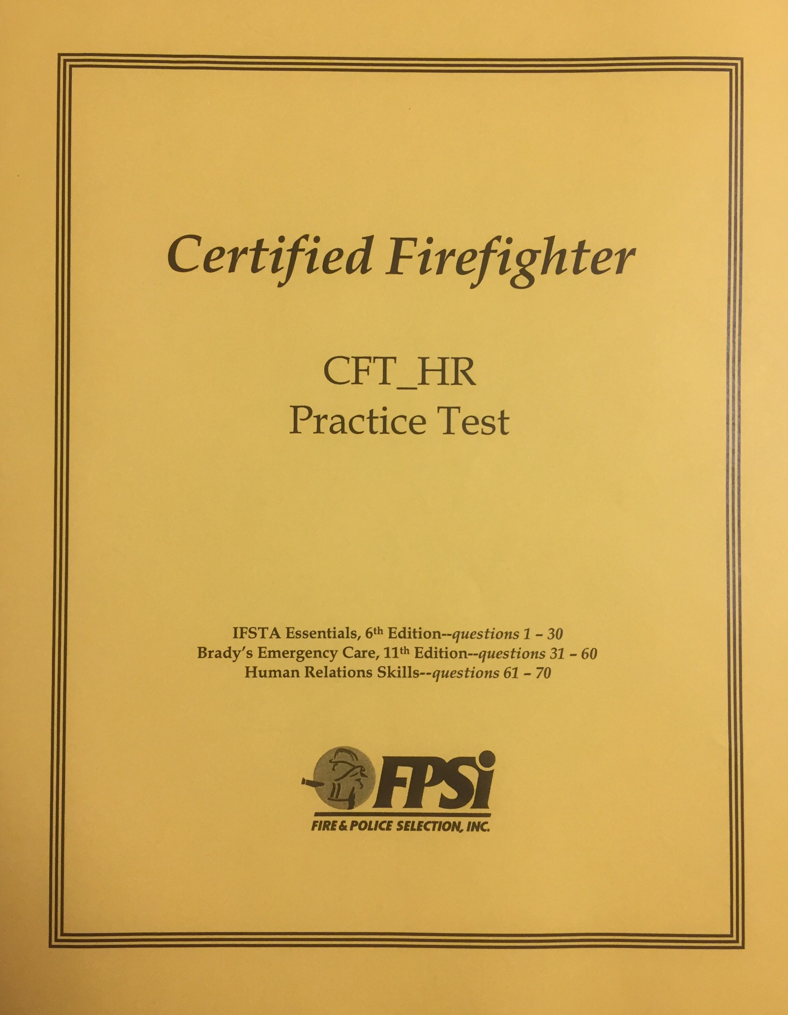 Certified Firefighter Human Relations Practice Test