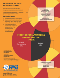 Firefighter Aptitude and Character Test Flyer